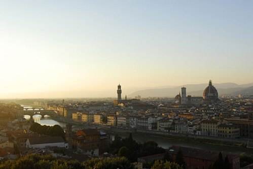 View over the city of Florence towards the Duomo
